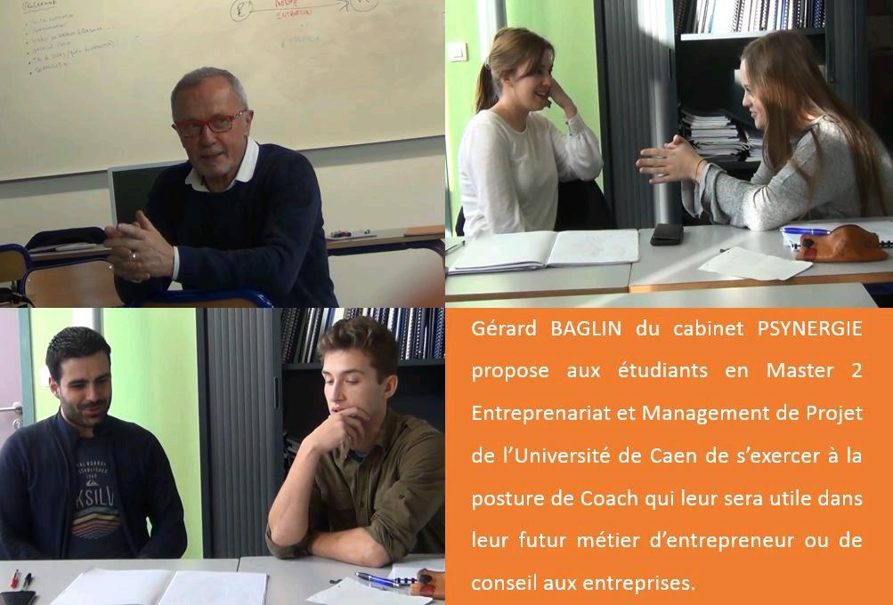 Etudiants Master 2 entreprenariat université de Caen